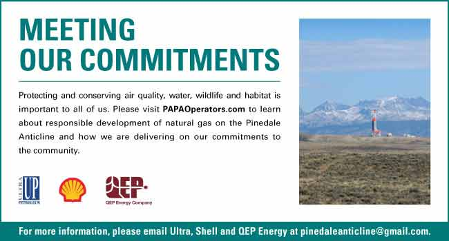 Pinedale Anticline Operators: Ultra Petroleum, Shell Oil, Questar. For more information see us at www.papaoperators.com.