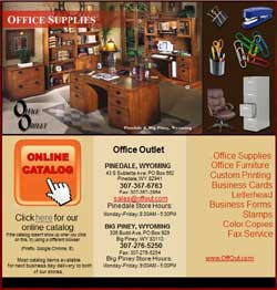 Office Outlet in Pinedale, Wyoming