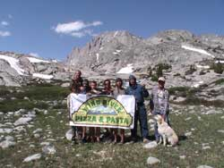 Wind River Pizza delivered to 11,000 feet!  Thanks Mark Pearson from O'Kelley Outfitting. Wind River Pizza & Pasta in Pinedale
