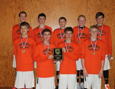 8th Grade Travel Basketball Team takes 1st Place in Casper tourney