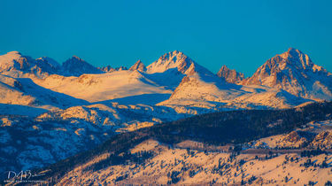 Wind River Mountain Range in early March. Photo by Dave Bell.