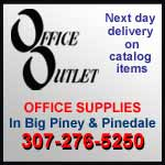 Office Outlet, stores in Pinedale and Big Piney