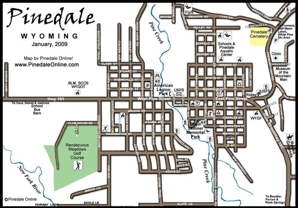 Pinedale, Wyoming, Town Map, Pinedale Online!