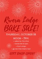 Cake & Bake Sale Thursday, October 18, 2018 from noon to 7PM.
