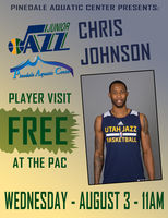 Jazz player Chris Johnson will be at the PAC on Wednesday, August 3rd for a free event.