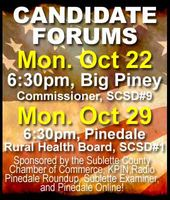 Candidate Forums October 22 & 29